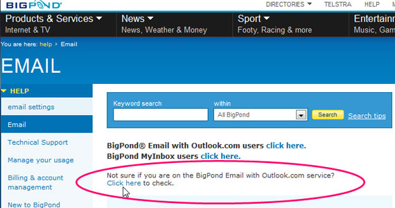 Bigpond Email Customer Support